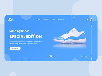 Shoes Landing Page Design webdesign website branding design app app desing illustrator app design ux ui