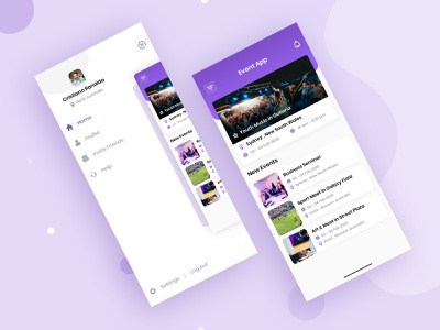 Event App Design website branding app desing logo app app design ui ux design