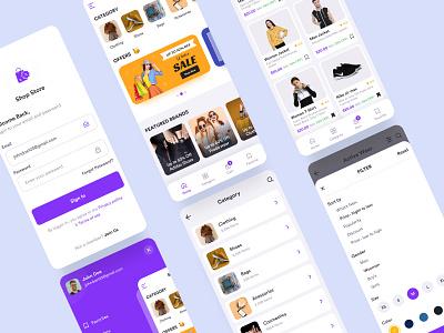 Online shopping app online store online shop shopping app shopping design app app design ui ux