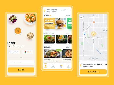 Food Delivery App delivery food delivery service onilne order food order foodapp photoshop xd figma app design app ux ui