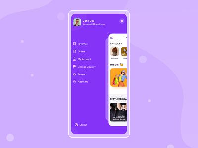 Sidebar navigation app desing side menu appmenu menu sidemenu app app design design ux ui