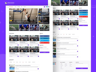 News Landing Page app landing page design news landing page news web news landingpage webdesign app design design ui ux