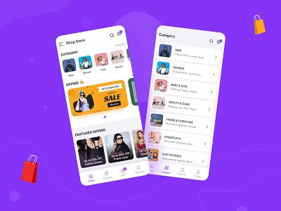 Shopping App app design ecommerce app ecommerce shopping app shopping app ui design app ui design ui ux