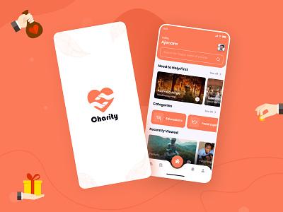 Charity App app uiux app ui donate app help charity app charity ux app app desing design ui