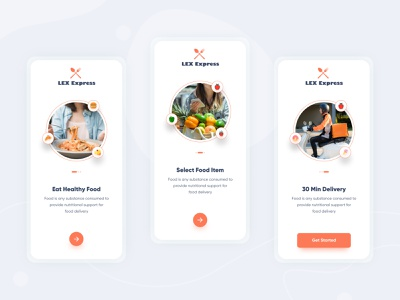Food Onboarding App UI food app design food delivery app food delivery food apps app design design ui ux food and drink food app ui onboarding food onboarding food app