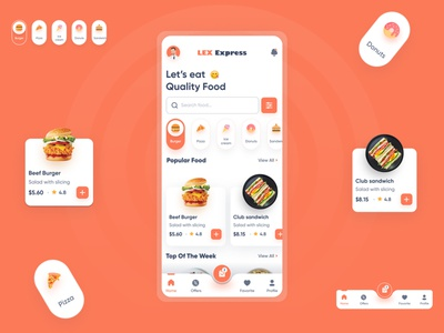 Food App UI food apps uxdesign uiux designer food order app food delivery app food application uiux design food ui food app design food order food delivery food app ui food app app design ux ui