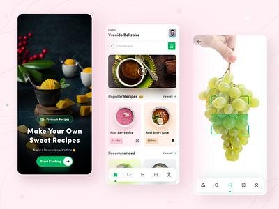 Recipes App design ux ui mobile app mobile design application design app design minimal design ux design ui design app ux app ui recipes recipes app recipes app ui design
