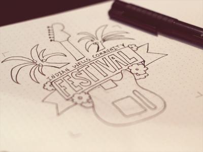 Festival Logo Sketch