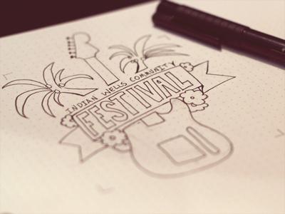 Festival Logo Sketch logo festival music
