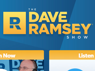 The Dave Ramsey Show Site website mobile ui nav financial dave ramsey radio