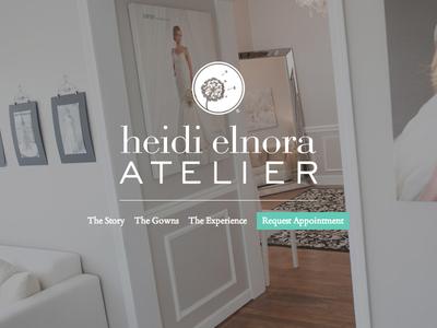 Heidi Elnora Atelier website photo wedding dresses workshop page