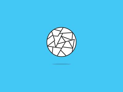 Best Ideas illustration lines trash ball circle blue