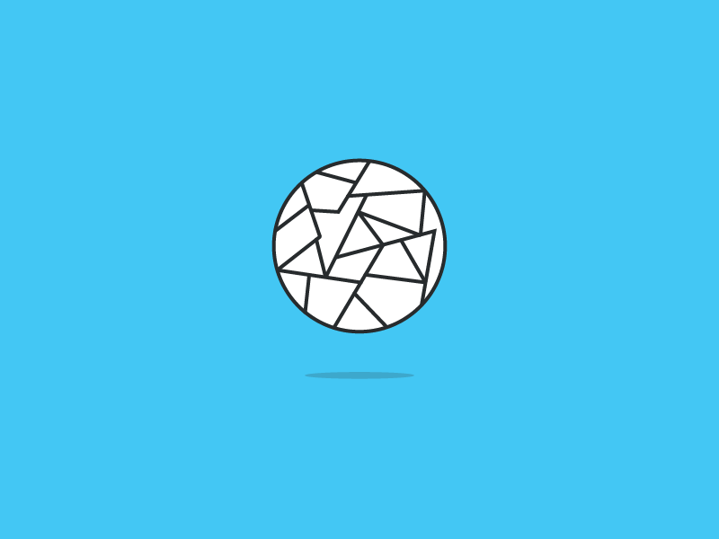 Best Ideas illustration lines trash ball circle blue