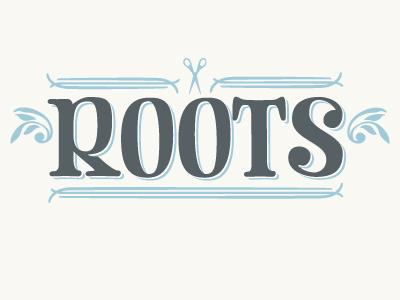 Roots Logo logo title salon