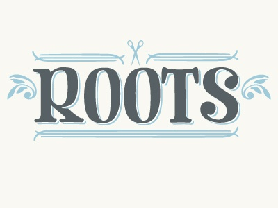 Roots Logo logo title salon