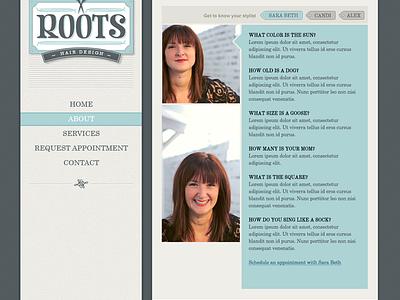 Stylist Page profile layout photo tags