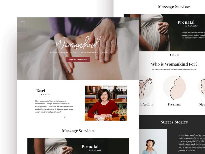 Womankind Website icon typography design ui brand logo website