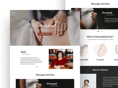 Womankind Website icon typography design ui brand logo website
