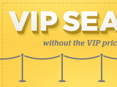 VIP Typography gotham 3d shadow text