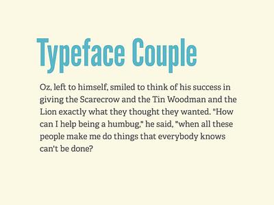 Typeface Coupling typeface font league gothic adelle 2x