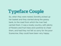 Typeface Coupling II