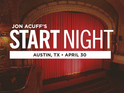 Jon Acuff Start Night acuff speaker book writer logo event live launch austin