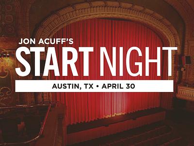 Jon Acuff Start Night acuff speaker book writer logo event live launch austin