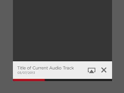 Live Stream Audio Player ios ui iphone mobile audio player controls progress title
