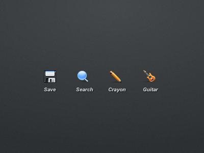 24px icons vezstudio ui icons icon guitar save pencil search
