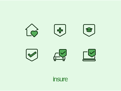 Icon sets for Insure - Insurance startup project startup insurance illustrator design icon design logo graphic design branding