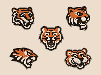 Tanglewood Tigers Elementary School logo head animal cat tiger