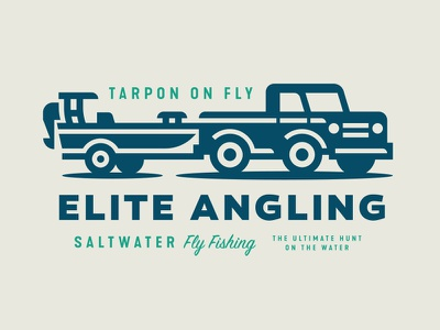 Elite Angling drive wheel ocean sea water fly fishing fish boat