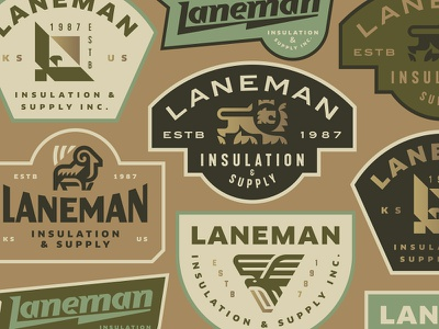 Ianeman Insulation badge ram crest lion