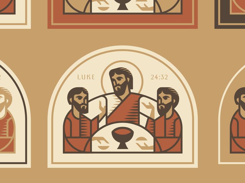 Emmaus christ man religion christian seal god men church jesus
