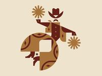 Cowboy Cheer funny cheer logo hat man logolounge cowboy