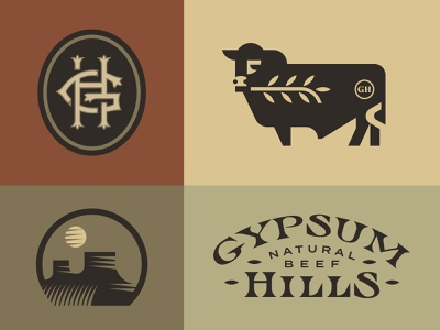 Gypsum Hills grow monogram hills steak grass bull cow