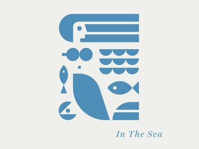 In The Sea mermaid swim fish ocean sea