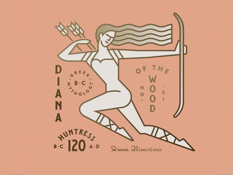 Mythology No. 01 women bow wood greek arrow mythology
