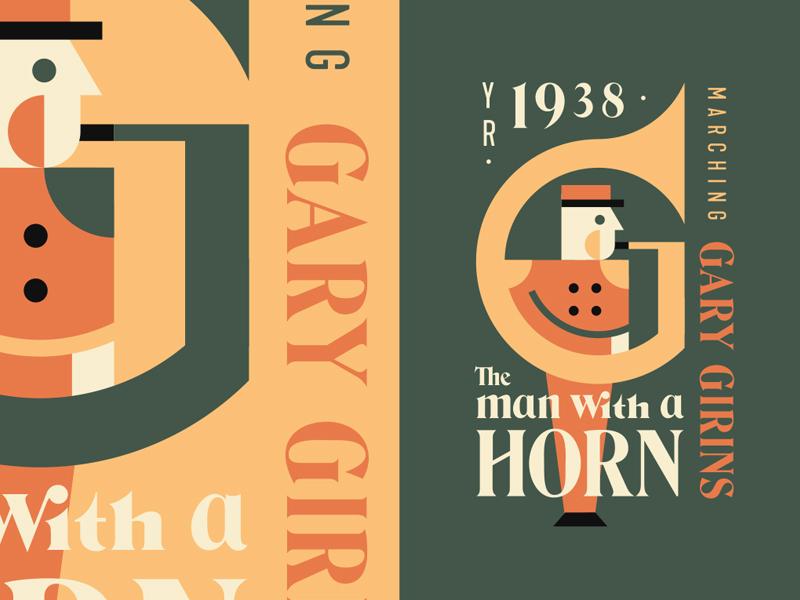 The man with a Horn tuba band type play horn man