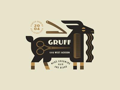Gruff grow cut comb scissors beard goat grooming hair men