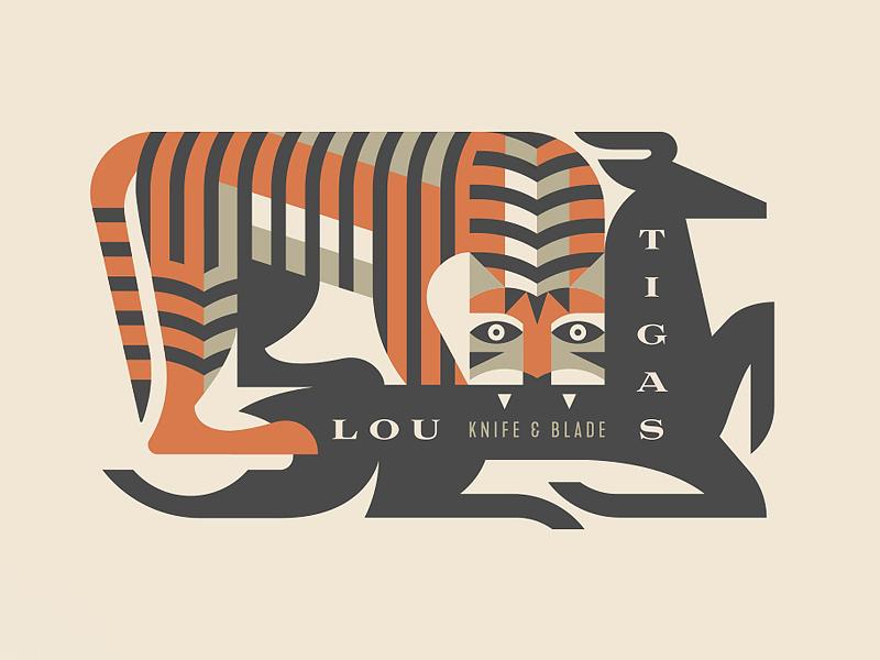 Lou Tigas Knife & Blade eat hunt deer blade knife animal tiger