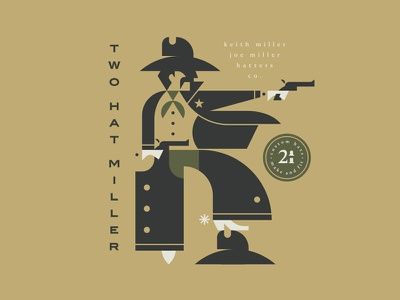 Two Hat Miller Western Line gun boots type hat man cowboy