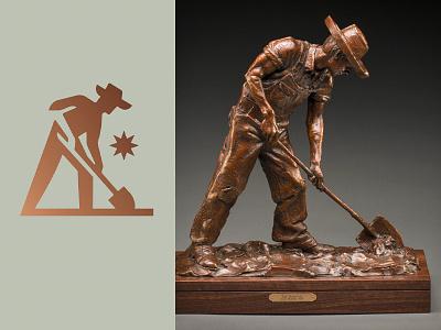The Heritage farm work hat shovel dig man
