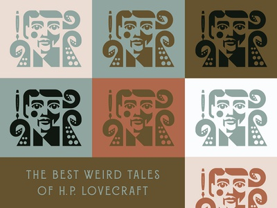 The Best Weird Tales of H.P. Lovecraft cthulhu face man writer tentacle