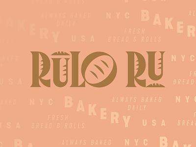 Rulo Ru Bakery bread bakery letters type