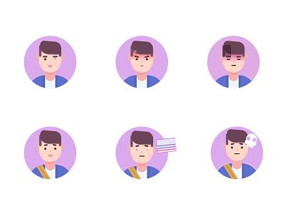 My avatar avatar icons flat flat illustration flatdesign 2020 design 2020 trend dribbble logo profile icon faces white illustration purple blue expression face avatardesign avatar