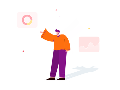 ilustration for ui ilustration 2020 design flat illustration purple hair flatdesign orange ui vector illustration