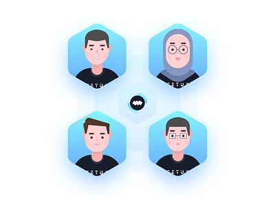 fetux team avatar dribbble design avatardesign avatar icon 2020 design vector blue illustration
