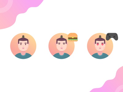 my avatar 4.5 icon orange vector dribbble avatar design avatar icons illustration