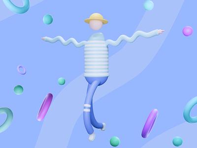 3D ilustration fyp dribbble 3dilustration art blenderrender design uiux render modeling blue 3dmodeling illustration